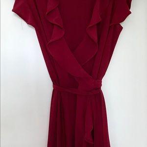 Wine Wrap Dress Excellent Condition